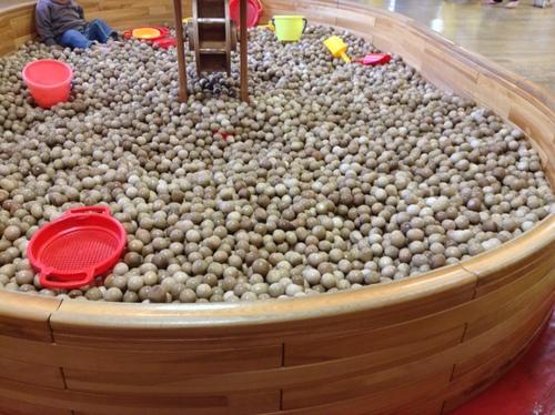 木製ボールのプール