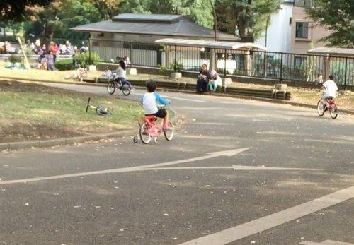 補助輪付幼児自転車